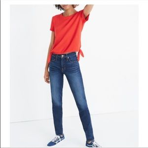Madewell Red Tie Knot T Shirt M